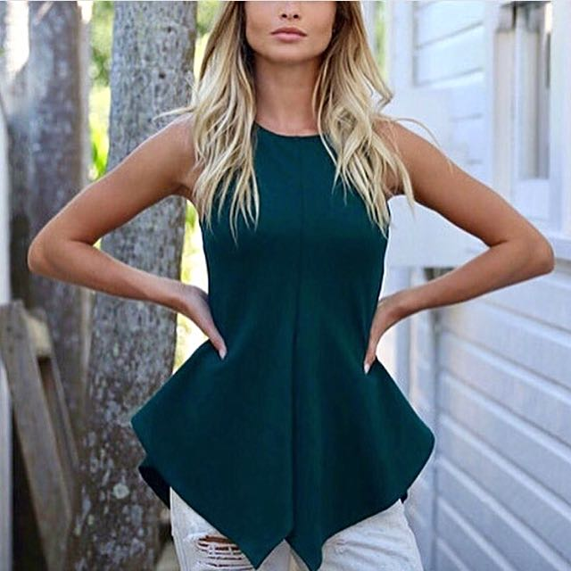 Green Madison Square Top