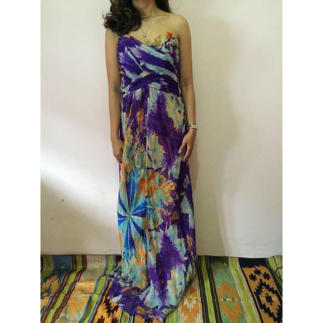 Guess Marciano, Long Dress Purple. Size S