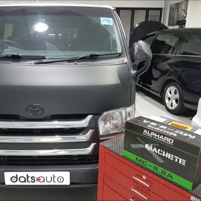 Hiace upgrade speakers Vehicle model: Toyota Hiace Product