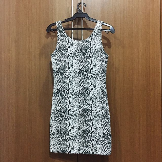H&M Brand New Black & White Bodycon Dress