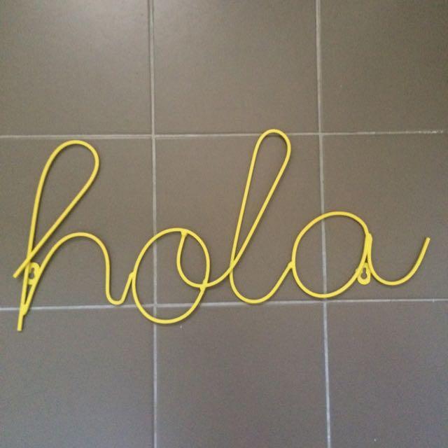 Hola Wall Art