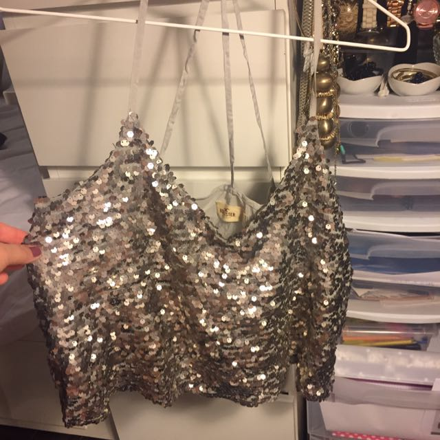 Hollister Top Bling Silver