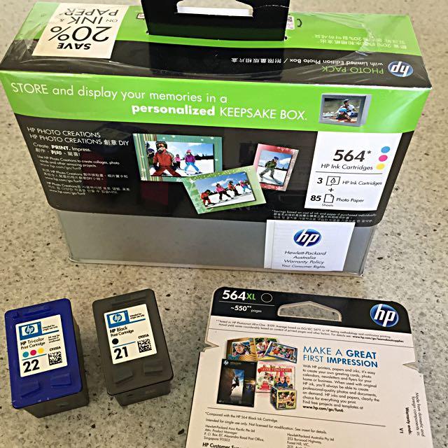 HP Ink Cartridges 564