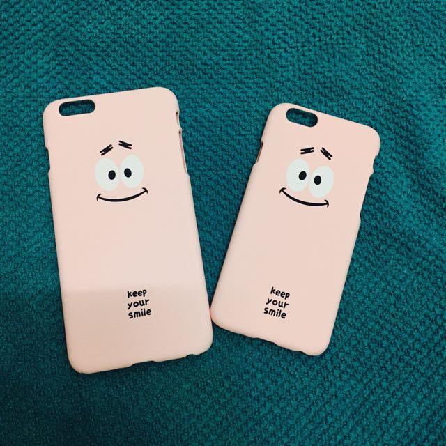 i6(5.5)粉紅笑臉手機殼