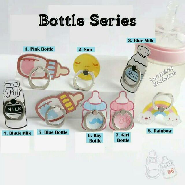 Iring Stand Ring Stent Holder Bottle Cincin Penyangga Hp Botol Susu Bayi Dot Pelangi Rainbow