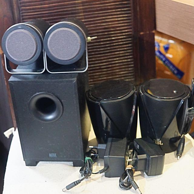 JBL Jembe Active Speaker - Bonus Altec Lansing 2.1 Speaker