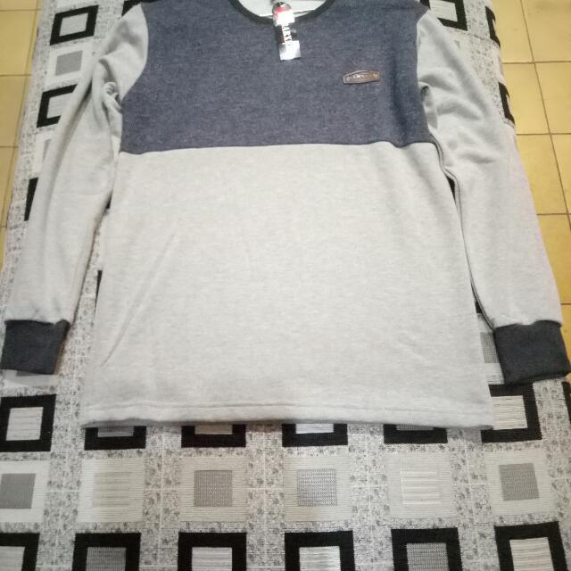 Kaos Pria Lengan Panjang, Bahan Halus Dan Tebal, All Size.