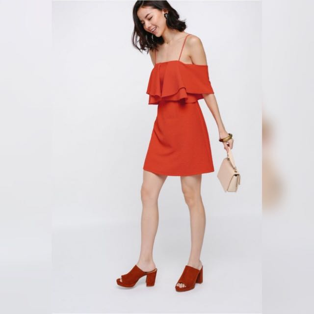 795648a646 Love Bonito Theora Off Shoulder Dress In Vermillion Size S, Women's ...