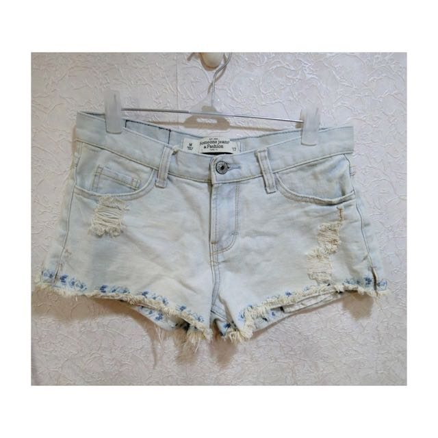 刺繡圖騰抽鬚短褲#M號
