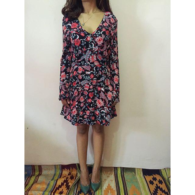 Mango Dress, Flower. Size S
