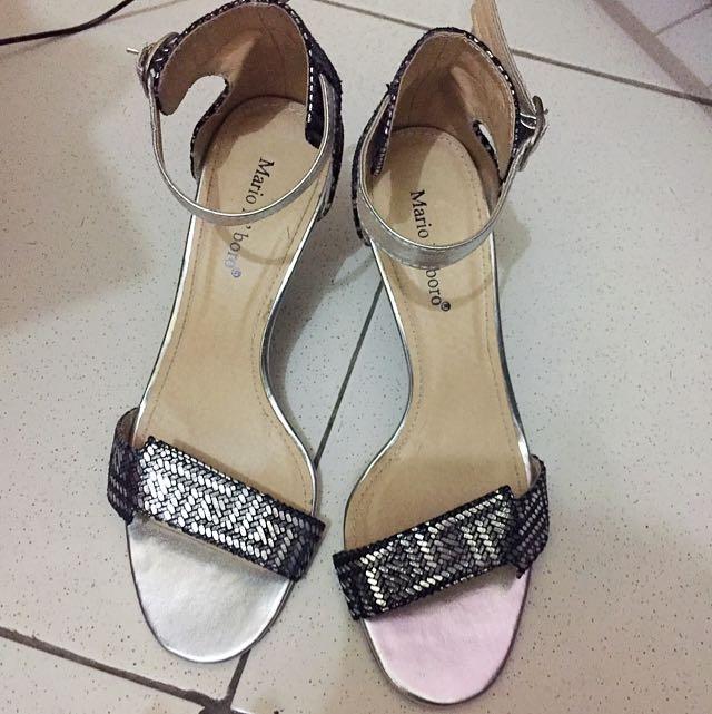 Mario D' Boro Silver/Gray Stilettos Size 7