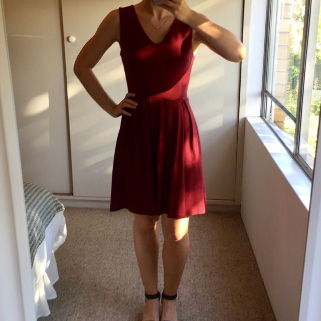 Maroon Glassons Dress, Size 8