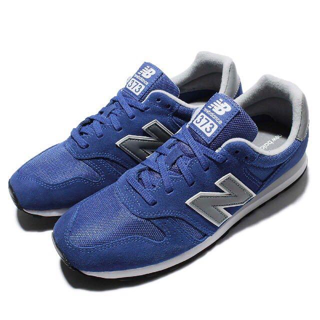 【NEW BALANCE】正版 休閒鞋 紐巴倫 373 慢跑 低筒運動復古N字鞋 穿搭搭配 藍灰 男鞋