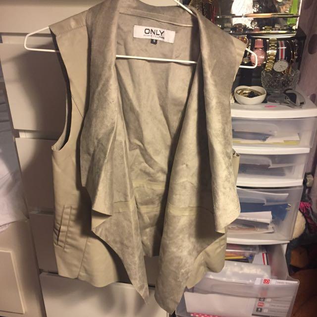 Only Vest Elegant Leather Optic Size S