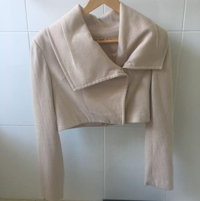 Piper Lane Blush Pink Crop Jacket Size 10