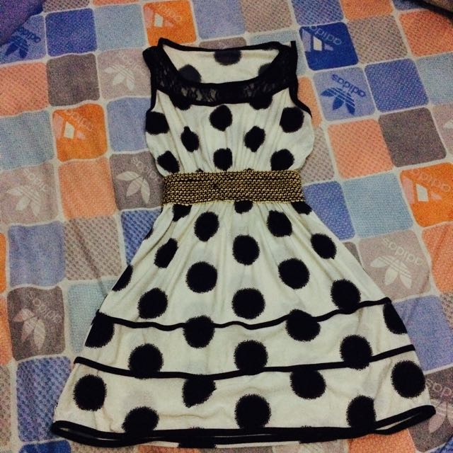 Pre Loved Sleeveless Polka Dress