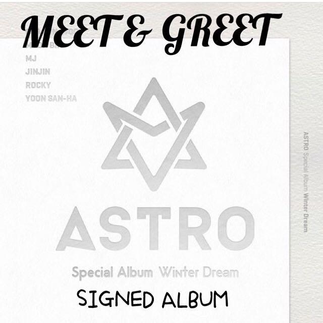 PRE ORDER 10/3/17] ASTRO WINTER DREAM SIGNED ALBUM, K-Wave on Carousell