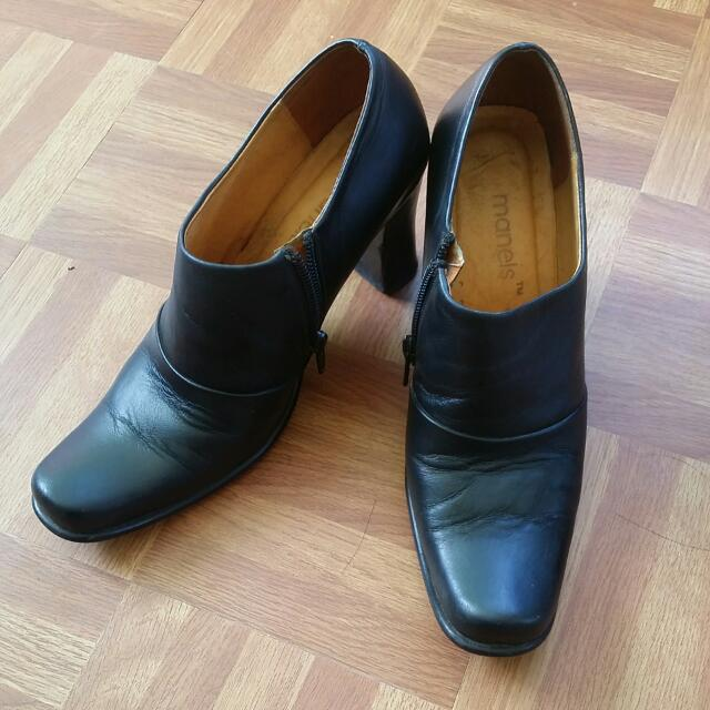 Repriced: Pure Leather Black Shoes