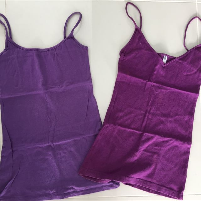 Purple basic tops