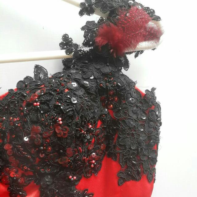Red Party Dress (Fit To M)
