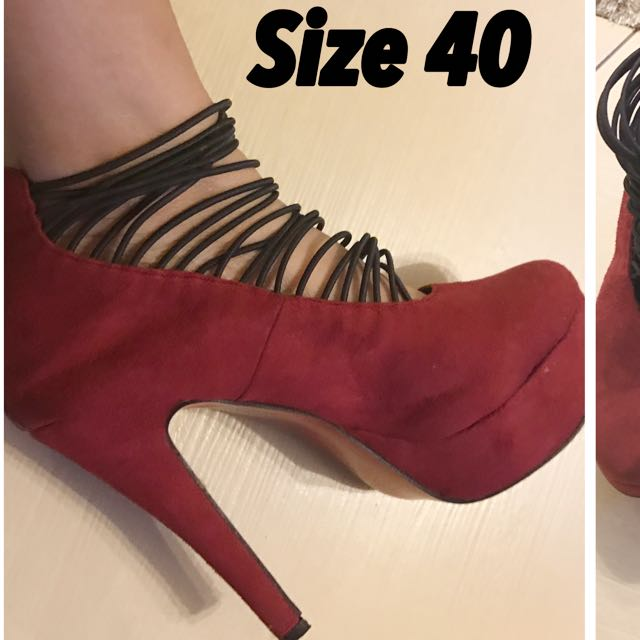 Red Shoes Size 40