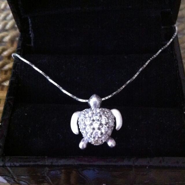 Sterling Silver 925 Necklace With Turtle Pendant