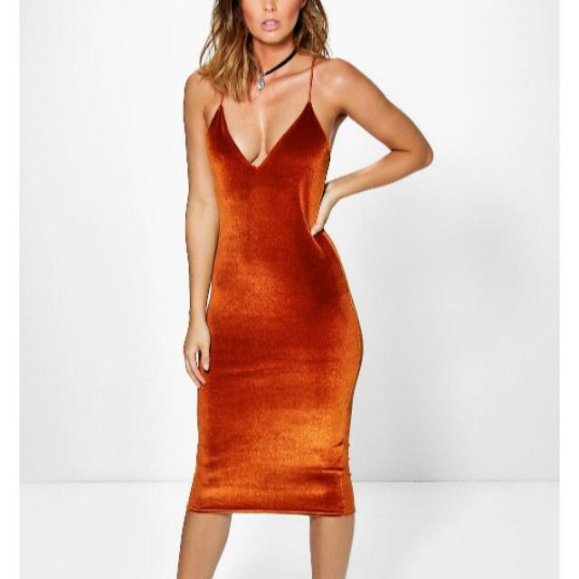 Strappy Velvet Dress NEW