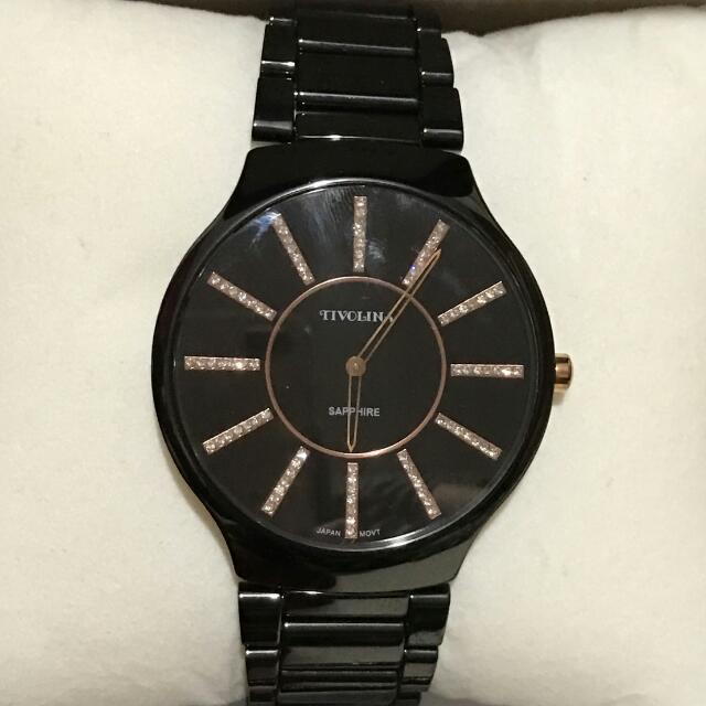 日本TIVOLINA黑色陶瓷錶