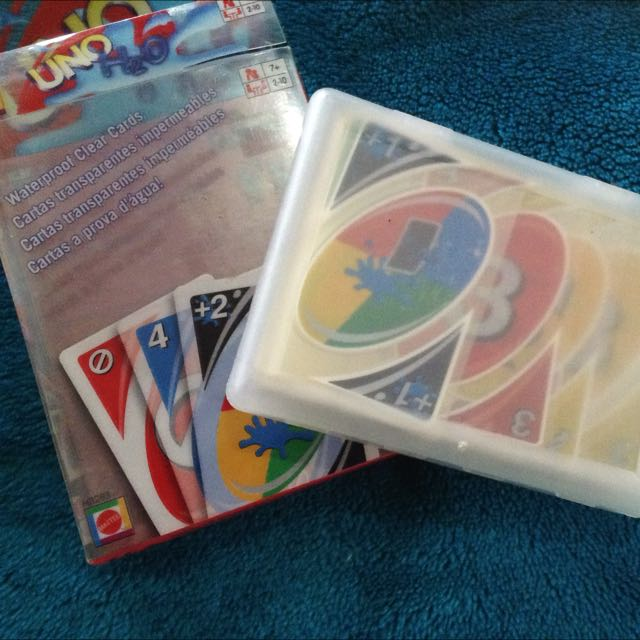 UNO H20 WATERPROOF CLEAR CARDS ORIGINAL MATTEL
