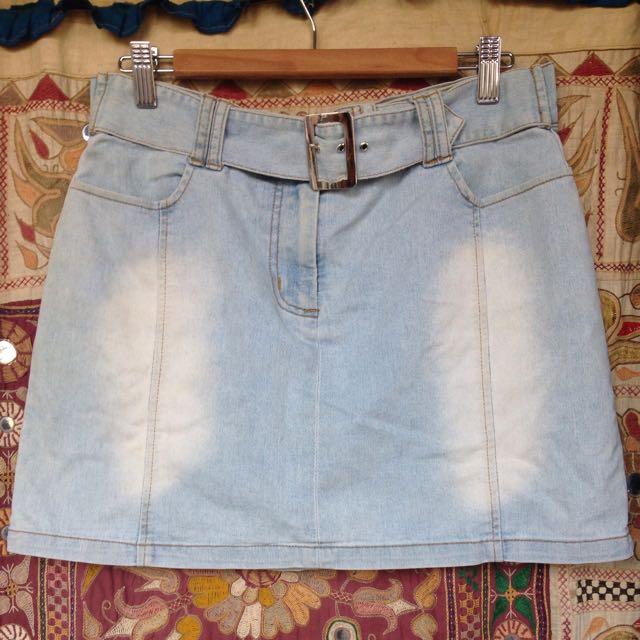 Vintage 'DARE u' Denim Skirt