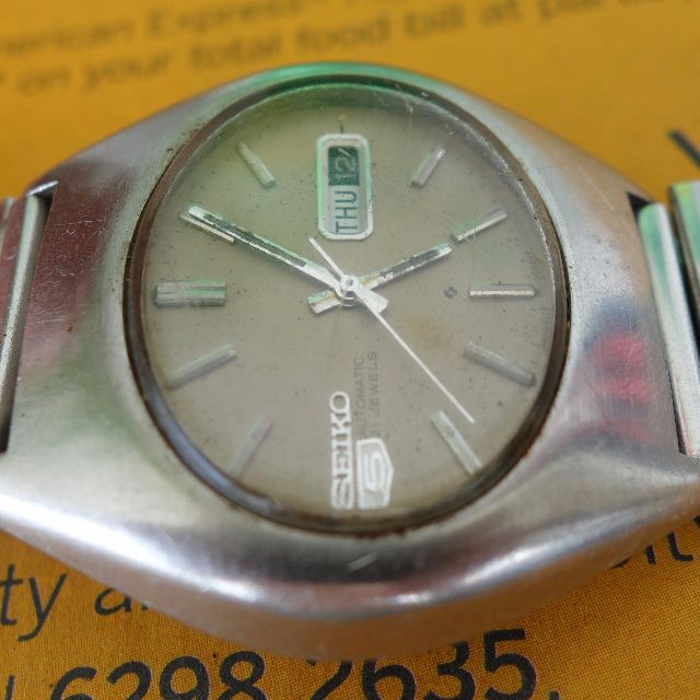 1613fe963 Vintage Men SEIKO 5 Automatic Watch, Day date Model, Oval Shaped ...