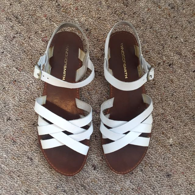 White Windsor smith Sandals, Size 8