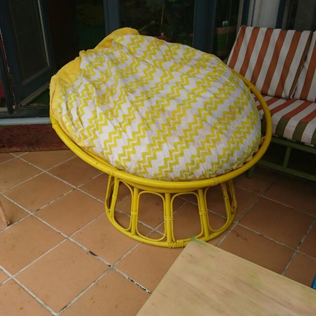 Yellow Papasan Chair