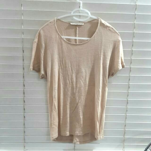 Zara Beige/gold Shirt