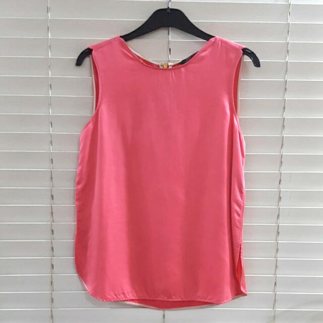 Zara Pink Sleeveless Top