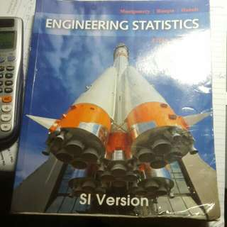 IE3101 Engineering Statistics 5th Edition By Montgomery Runger Hubele