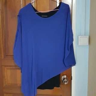 🚚 Blue With Black Dress