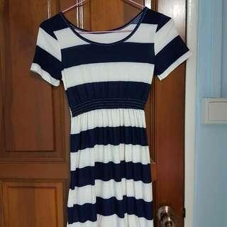 🚚 Blue N White Stripe Dress