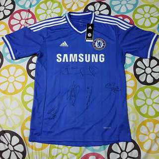 CHELSEA FC JERSEY SIGNED BY CHELSEA PLAYERS
