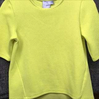 Yellow Women's Mid-sleeve top ASOS  Size XS