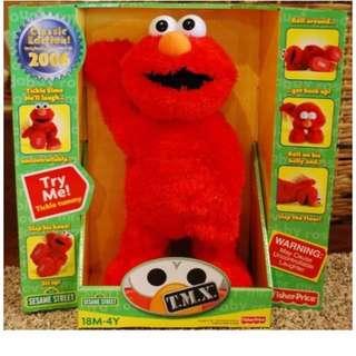 美國代購 100%真品 Elmo 搔癢娃娃 芝麻街十週年紀念版 TMX Fisher Price