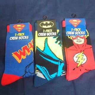DC Superman Batman The Flash #超人 蝙蝠俠 閃電俠 英雄 襪子