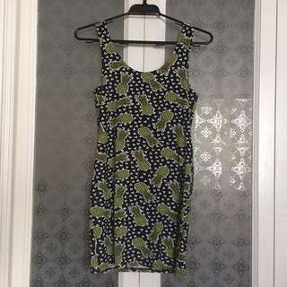 H&M - Pineapple Bodycon Minidress