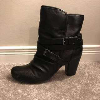 Call It Spring Black Ankle Boots/Booties