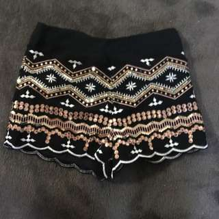 Sequin Shorts Size 10