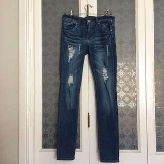 VIP Jeans - Distressed Skinny Jeans