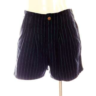 Navy Pinstripes High Waist Bubble Shorts Size 6/10