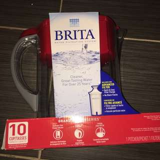 Brita Filtered Water Jug / RED