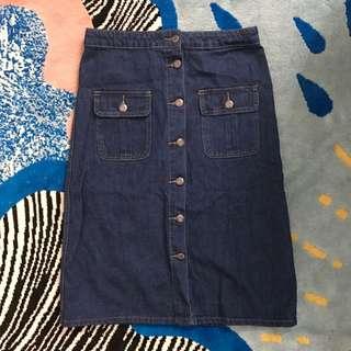 Boohoo Denim Skirt Sz 10