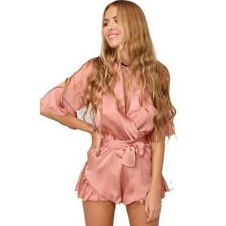 Lioness Silk Playsuit